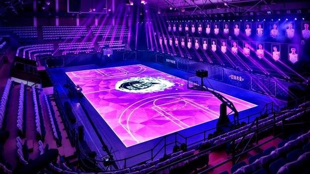 Nike creates LED motion-tracking basketball court