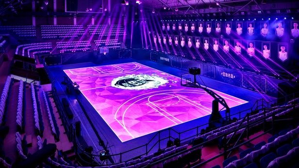 Nike creates LED motion-tracking basketball court